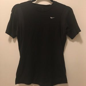 Small nike dry fit black tee