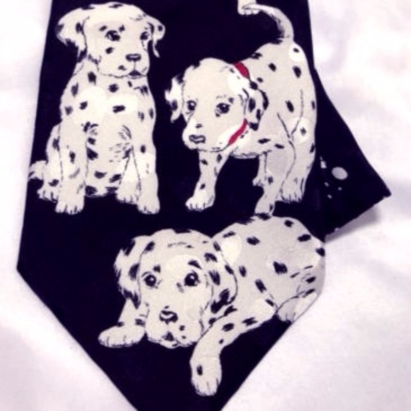 Addiction Other - Addiction Men's Tie Dalmatians Dogs 100% Silk Euc