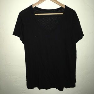 LA Made black slub tee size large