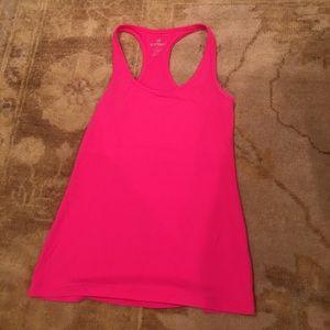 Neon pink activewear