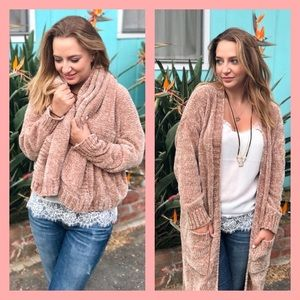 🍁🍁ARIANA CHENILLE COCOON DUSTER