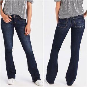 AE Dark Blue Super Stretch Flare Artist Jeans