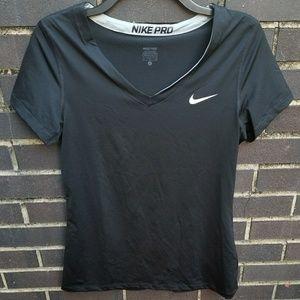 Nike pro women's large short sleeve shirt