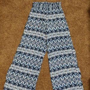 Aztec wide leg pants