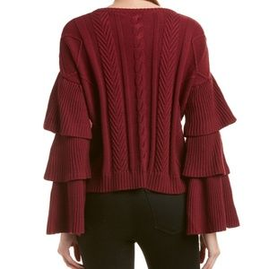 ENDLESS ROSE BELL RUFFLE SLEEVE SWEATER