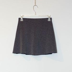 Zara trf knit mini skirt charcoal grey