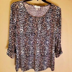 Dressbarn leopard print blouse