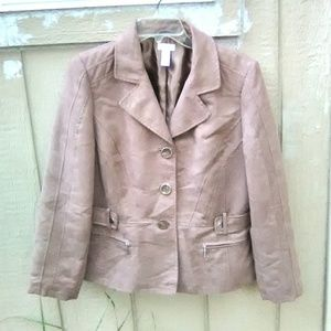Chico's Size 8 Faux Suede Brown Jacket