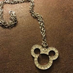 Silver Disney Micky Mouse Necklace