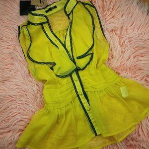 RETRO// Peplum sleeveless blouse