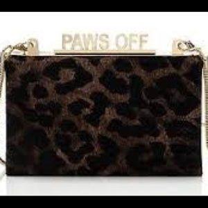 New Kate Spade Paws Off Clutch bag meow fur bag