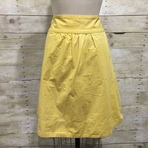 J. Crew | Yellow Skirt with ruching & pockets