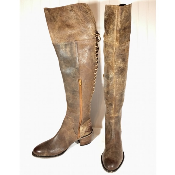 2ce7897cfee Diba True Sz 8 Cognac Over-the-Knee Lace Up Boots