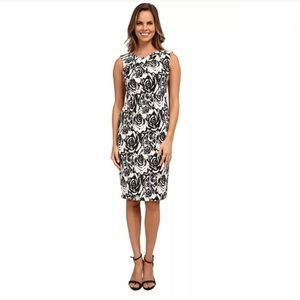 🌸Adrianna Papell Floral Jacquard Sheath Dress🌸