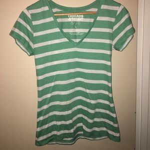 Threads 4 Thought Striped V-Neck tee