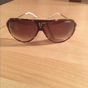 Carrera Aviator Sunglasses in White/Tortoise