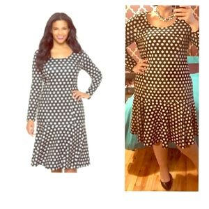 Eloquii dress , polka dot ,size 22 ,worn 2-3 times