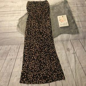 61ef9c3947c32 Lascana Dresses   Brown Print Maxi Dress   Poshmark