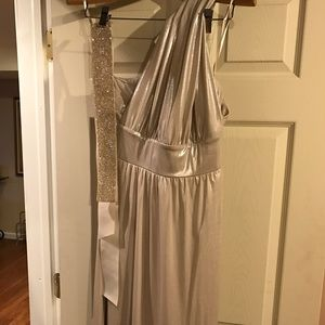 Size 6 multi-way gold dress with belt