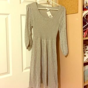 H&M brand new never worn silver baby doll dress