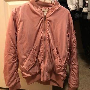 Blush pink H&M zip up jacket