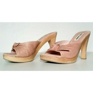STEVE MADDEN Womens Pink Heels Sandals Size 7.5