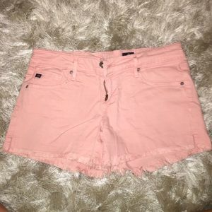 AG Dusty Rose Denim Shorts
