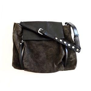 Zara suede and leather handbag