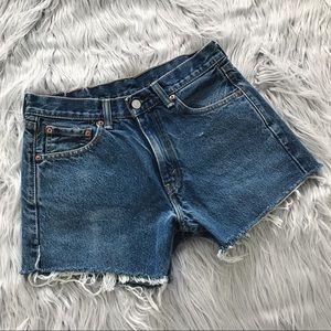 VINTAGE 505 Levi's Denim Cutoff Shorts