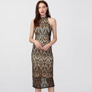 NWT! RACHEL ROY black lace halter dress women 4