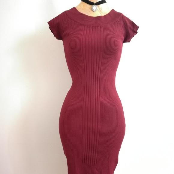 54851782c50 Derek Heart Vintage Red Knit Sweater Dress