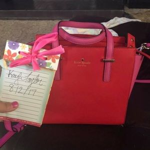 Kate Spade bag with handles and cross body strap