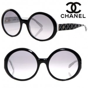 Chanel Round Quilted Gradient Sunglasses
