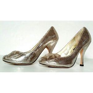 STEVE MADDEN Womens Metallic Pump Heels Size 7