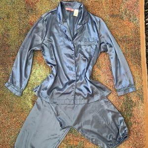 Vintage silk satin lace boho urban pajama pj set