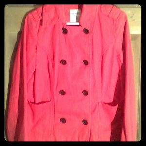 Red old navy peacoat
