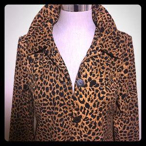 Retro Leopard Print Rain Coat