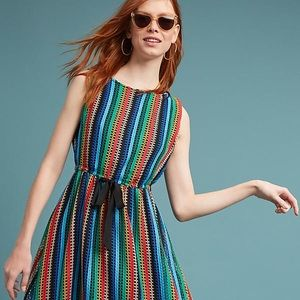 8e13dee3c80 Anthropologie Dresses - NWT Anthro rainbow crochet midi dress (Eva Franco)