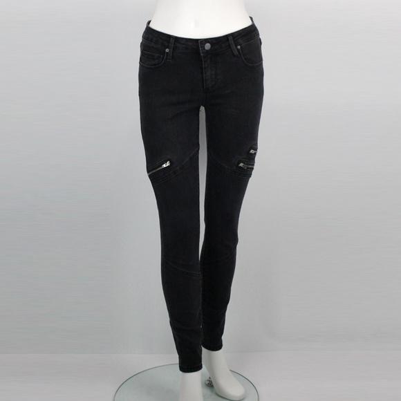 217446db74652 JustFab Jeans | Just Fab Black Zipper Skinny 26 Waist | Poshmark