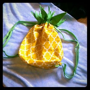 Toddler or childrens Pineapple drawstring bag
