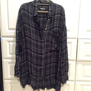 Urban Outfitters Plaid Flannel Tunic Top