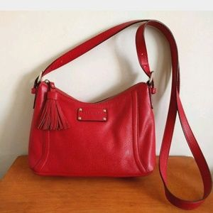 Kate Spade Cheltenham crossbody red leather