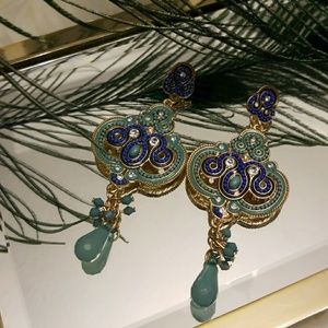 Moroccan Assian style dangle earrings