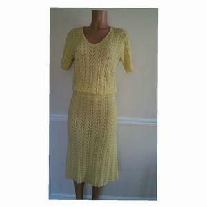 2 Piece Vintage Knit Skirt Set