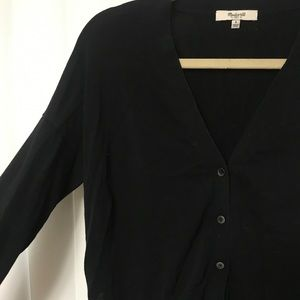 Cropped button down cardigan