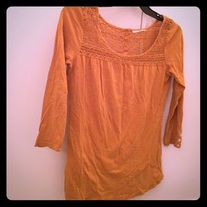 Yellow fall blouse.