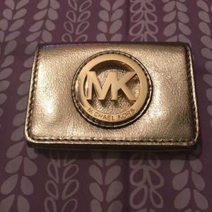 MK Gold Metallic ID Holder
