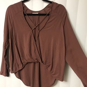 Silence and noise blouse