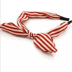 Accessories - Red&White Striped Headband