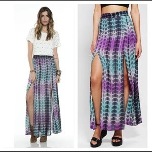 Lovers + Friends pandora maxi slit skirt